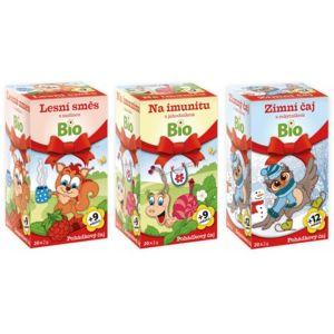 Dětský BIO Pohádkový čaj 3druhy+omalovánky 3x20x2g - II. jakost