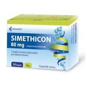 SIMETHICON 80mg s olejem kmínu kořenného cps.50 - II. jakost