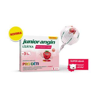Junior-angin lízátka pro děti 8ks+dárek - II. jakost
