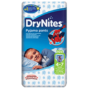 HUGGIES DryNites kalh.abs.M 4-7/boys/17-30kg/10ks