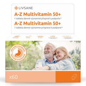LIVSANE A-Z Multivitamin komplex 50+ tablety 60ks