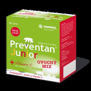 Preventan Junior ovocný mix tbl. 90 + dárek - II. jakost