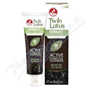 Twin Lotus Active Charcoal bylin.zubní pasta 150g - II.jakost