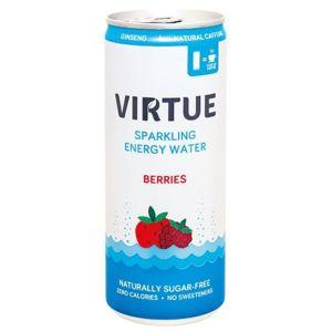 Virtue energetická sycená voda Lesní plody 250ml - II. jakost